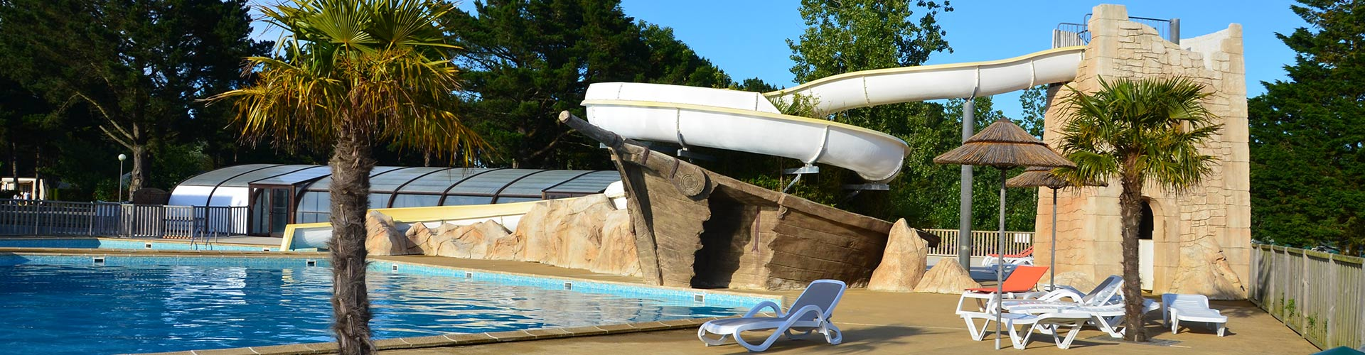 Camping le domaine d 39 inly p nestin camping 4 toiles for Camping morbihan bord de mer avec piscine