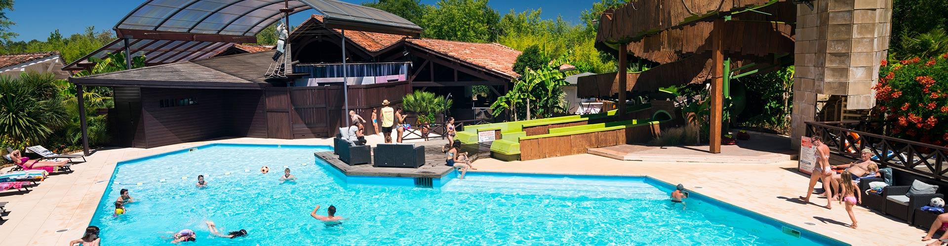 Camping le sen yan mezos dans les landes camping 5 for Camping dans les landes avec piscine