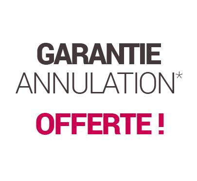 Promotions Garantie annulation offerte