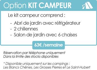 Kit campeur pour emplacement nu en camping