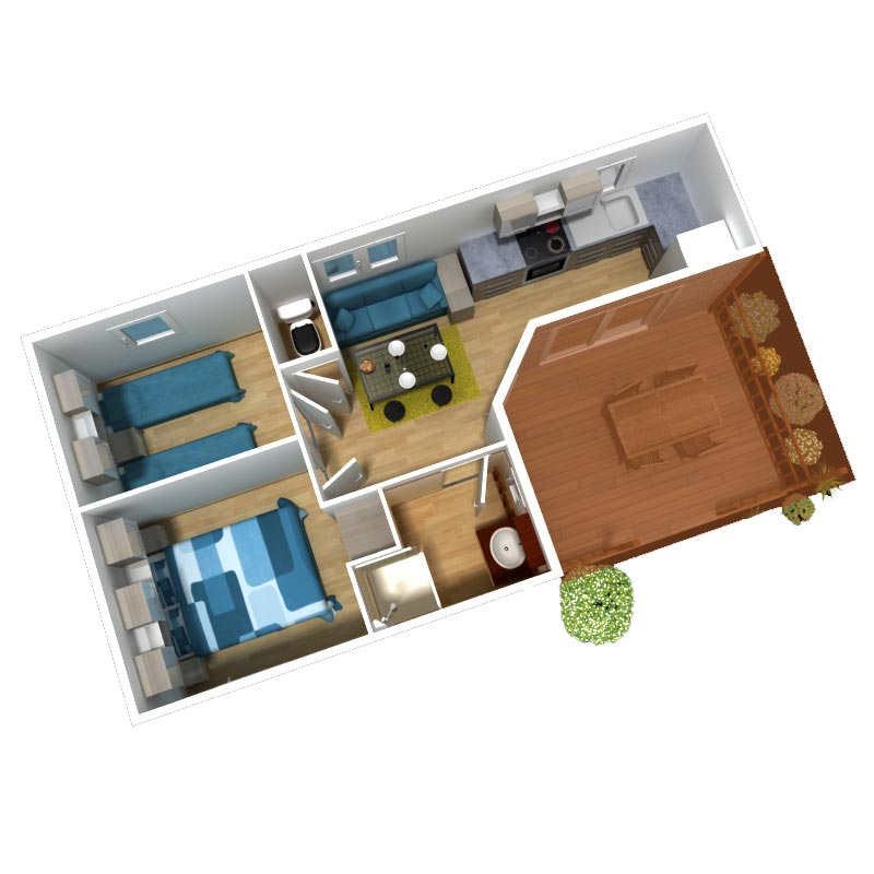 location mobil home 4 6 personnes 2 chambres 30 32 m2 avec vagues oc anes. Black Bedroom Furniture Sets. Home Design Ideas